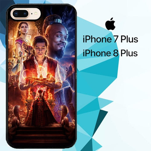 aladdin movie Z4866 hoesjes iPhone 7 Plus , iPhone 8 Plus