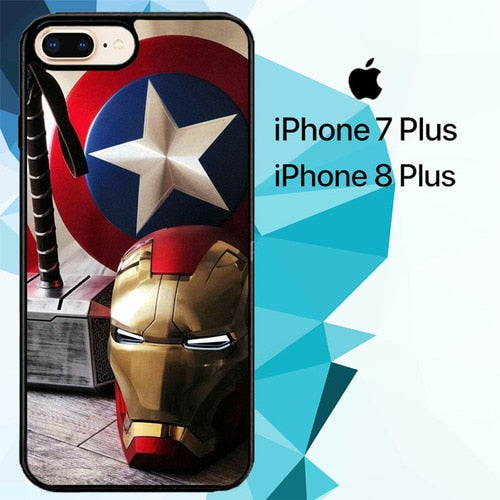 Marvel Heroes Z4912 hoesjes iPhone 7 Plus , iPhone 8 Plus