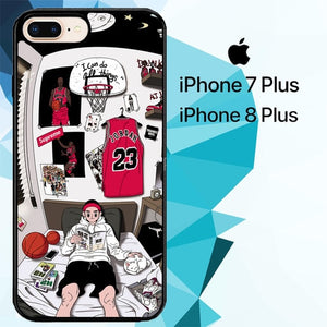 Jordan Boy Z4913 hoesjes iPhone 7 Plus , iPhone 8 Plus