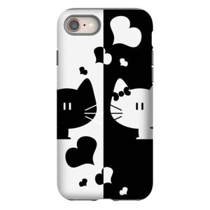 black white cats iphone 8 hoesjes