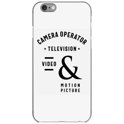 camera operator television video job title gift iphone 6 6s hoesjes