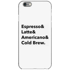 coffee types iphone 6 6s hoesjes