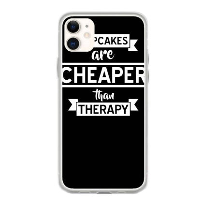cupcakes are cheaper than therapy iphone 11 hoesjes