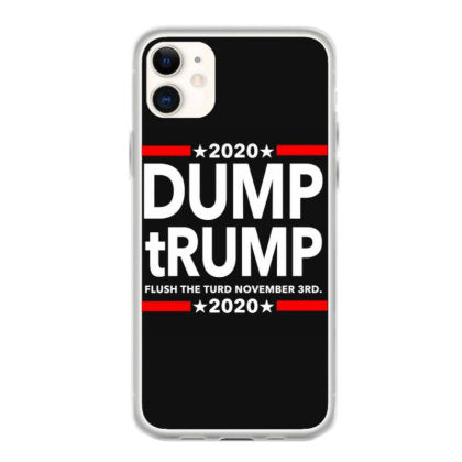 dump trump 2020 flush the turd november 3rd iphone 11 hoesjes