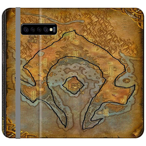 World of Warcraft Tribal Horde Map Samsung Galaxy S10 Flip hoesjes