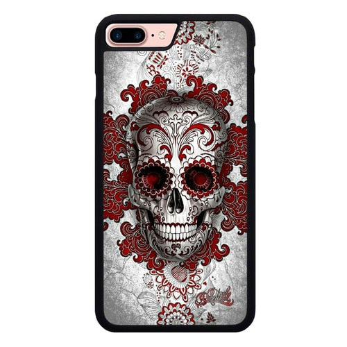 sugar skull tattoo X00042 hoesjes iPhone 7 Plus , iPhone 8 Plus
