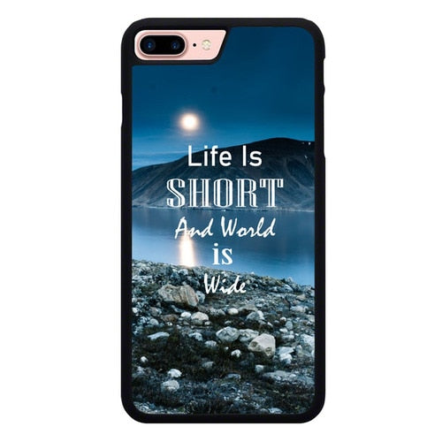 nature quotes X00281 hoesjes iPhone 7 Plus , iPhone 8 Plus