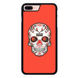 Cleveland Browns Skull X00389 hoesjes iPhone 7 Plus , iPhone 8 Plus