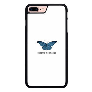 Blue Butterfly X00398 hoesjes iPhone 7 Plus , iPhone 8 Plus