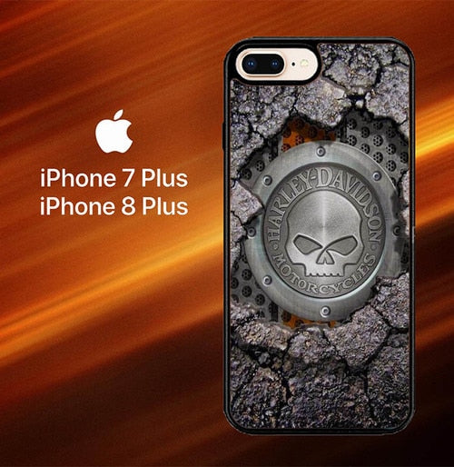 Harley Davidson Skull X4487 hoesjes iPhone 7 Plus , iPhone 8 Plus