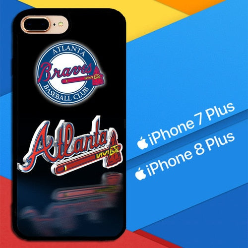 Atlanta Braves X4992 hoesjes iPhone 7 Plus , iPhone 8 Plus