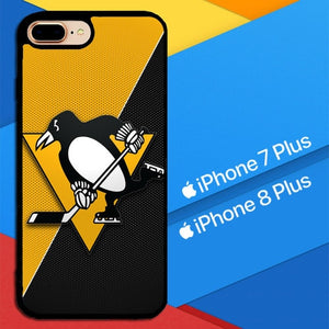 Pittsburgh Penguins Logo X4983 hoesjes iPhone 7 Plus , iPhone 8 Plus