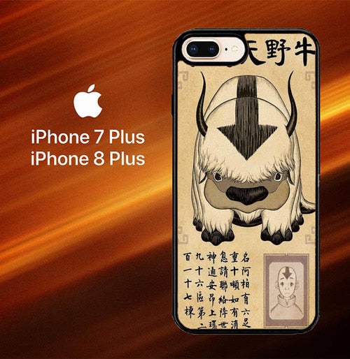 Appa Avatar The Last Airbender X6059 hoesjes iPhone 7 Plus , iPhone 8 Plus