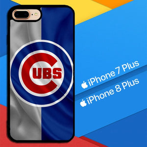 Chicago Cubs Logo X9268 hoesjes iPhone 7 Plus , iPhone 8 Plus
