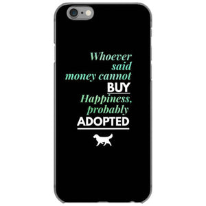 happiness is adopting a dog iphone 6 6s hoesjes