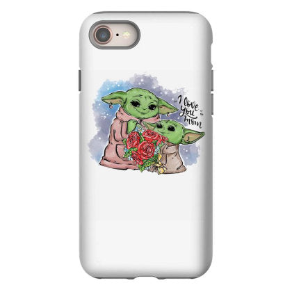 i love mom yoda iphone 8 hoesjes