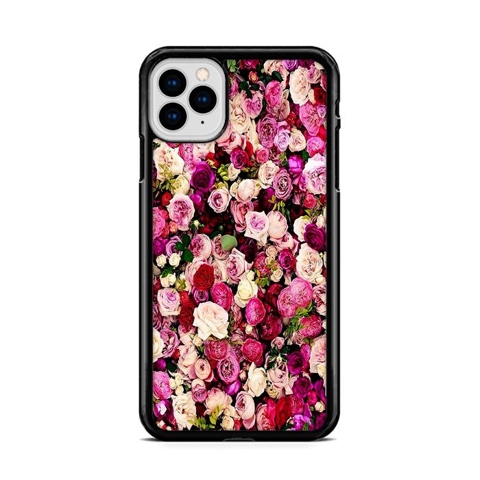 Rose Flower Pattern Wallpaper iPhone 11 hoesjes Pro Max