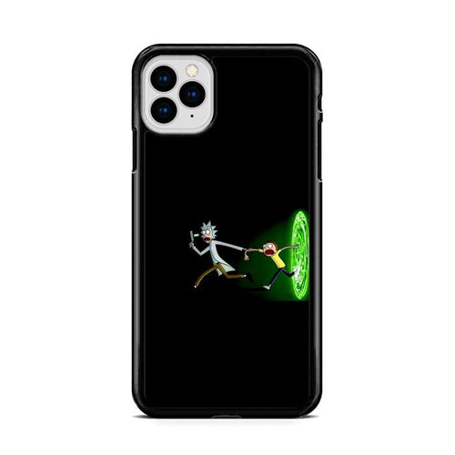 Rick and Morty Galaxy Black Portal iPhone 11 Pro hoesjes