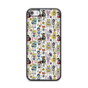 Sailor Moon Pattern Wallpaper iPhone 5|5S|SE hoesjes