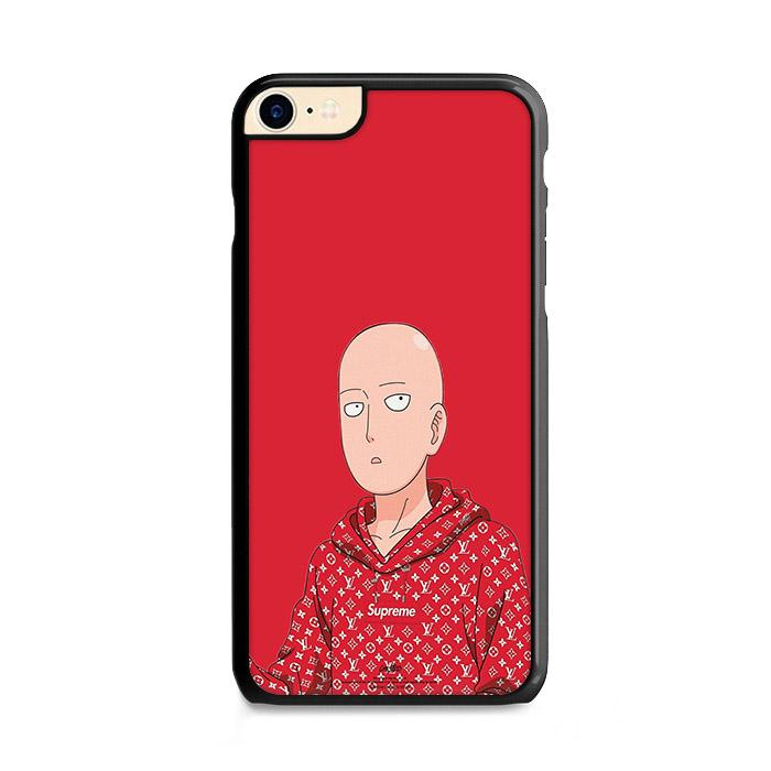 Saitama One Punch Man Red Hypebeast iPhone 8 hoesjes