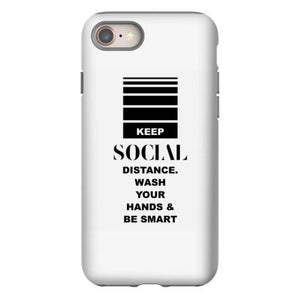 keep social distance whas your hands be smart iphone 8 hoesjes