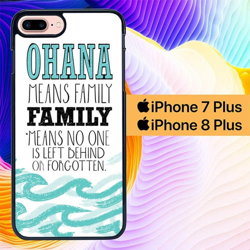 Ohana Means Family L0010 hoesjes iPhone 7 Plus , iPhone 8 Plus