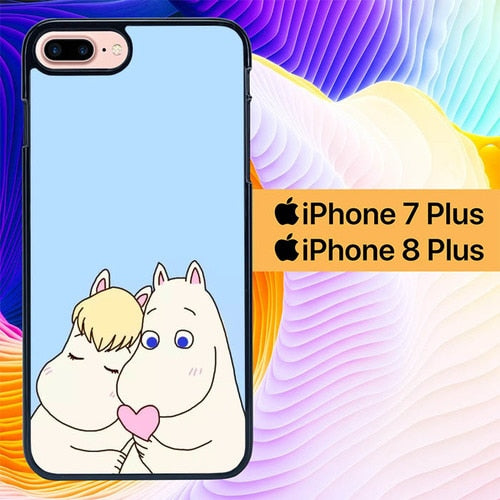 Moomi Sweet Couple L0034 hoesjes iPhone 7 Plus , iPhone 8 Plus