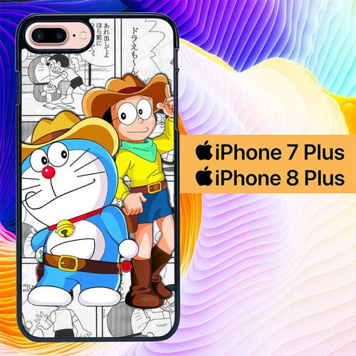 doraemon L0126a hoesjes iPhone 7 Plus , iPhone 8 Plus