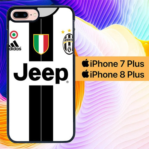 Juventus Tshirt L0169 hoesjes iPhone 7 Plus , iPhone 8 Plus