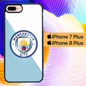 Manchester City Simple L0185 hoesjes iPhone 7 Plus , iPhone 8 Plus