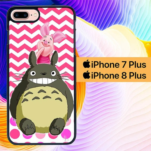 totoro and piglet L0197a hoesjes iPhone 7 Plus , iPhone 8 Plus