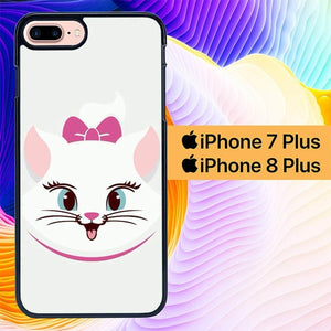 Marie Cat Face L0199 hoesjes iPhone 7 Plus , iPhone 8 Plus