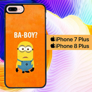 Minions Ba-boy L0208 hoesjes iPhone 7 Plus , iPhone 8 Plus