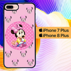 baby minnie mouse L0230a hoesjes iPhone 7 Plus , iPhone 8 Plus