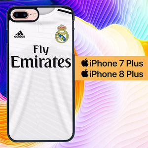 Real Madrid Tshirt L0244 hoesjes iPhone 7 Plus , iPhone 8 Plus