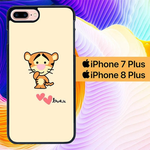 Tiger Winnie The Pooh Simple L0282 hoesjes iPhone 7 Plus , iPhone 8 Plus