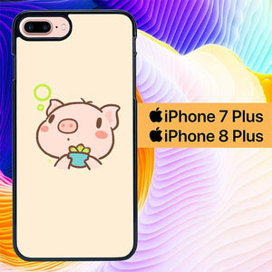 Yoo Piggy 2 L0301 hoesjes iPhone 7 Plus , iPhone 8 Plus