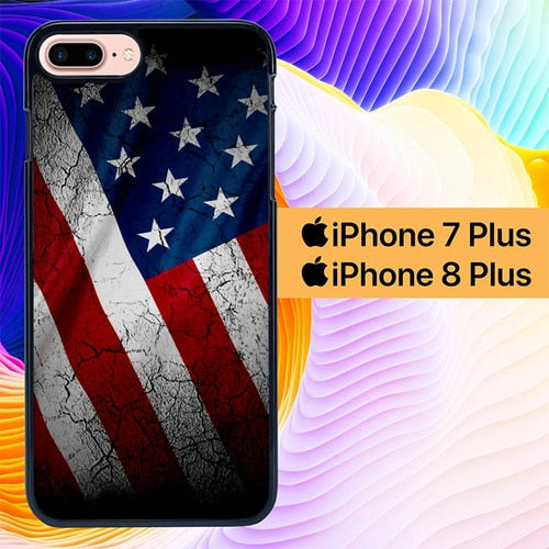 American Flag L0305 hoesjes iPhone 7 Plus , iPhone 8 Plus