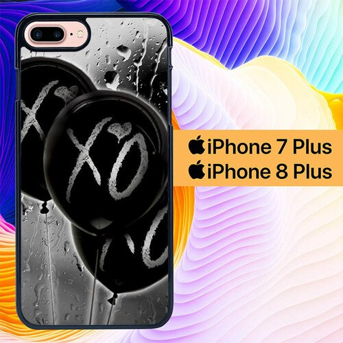 xo ballons rain L0353 hoesjes iPhone 7 Plus , iPhone 8 Plus