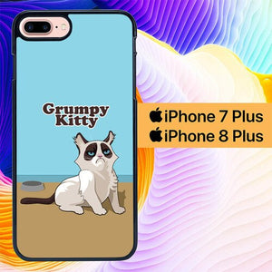Grumpy Kitty L0367 hoesjes iPhone 7 Plus , iPhone 8 Plus