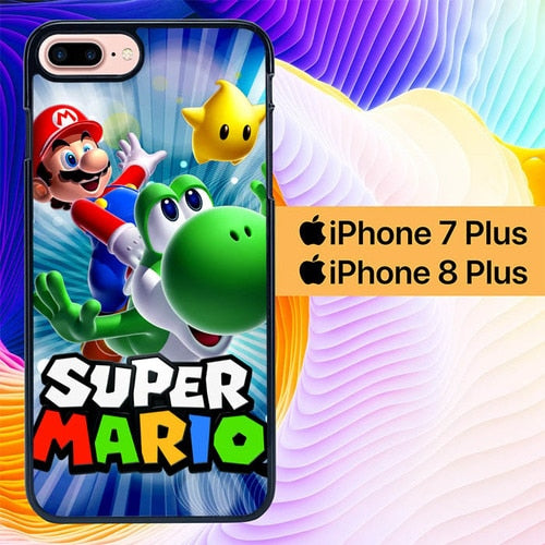 super mario L0367a hoesjes iPhone 7 Plus , iPhone 8 Plus