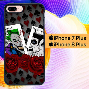 joker and queen L0378a hoesjes iPhone 7 Plus , iPhone 8 Plus