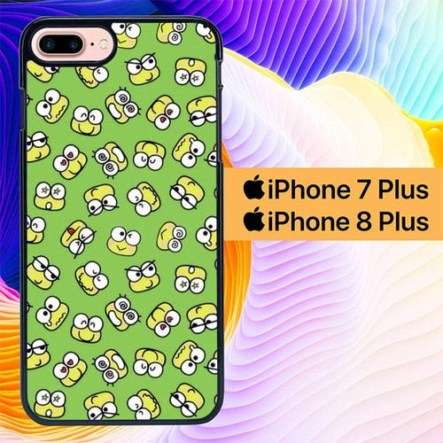 Keroppi Frog Pattern L0380 hoesjes iPhone 7 Plus , iPhone 8 Plus