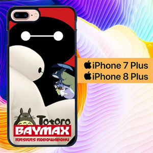 totoro and baymax L0405a hoesjes iPhone 7 Plus , iPhone 8 Plus
