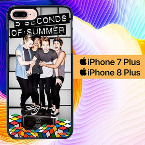 5 seconds of summer L0408a hoesjes iPhone 7 Plus , iPhone 8 Plus