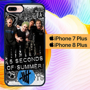 5 seconds of summer L0409a hoesjes iPhone 7 Plus , iPhone 8 Plus