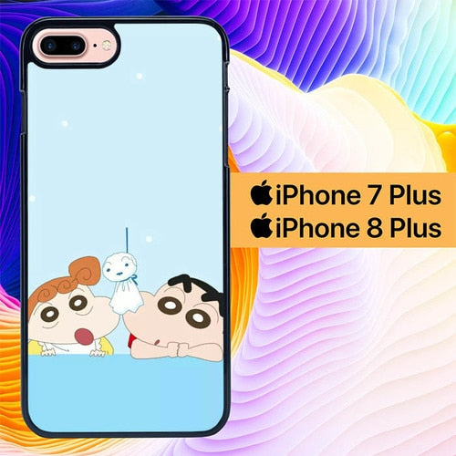 Sinchan And Hima L0424 hoesjes iPhone 7 Plus , iPhone 8 Plus
