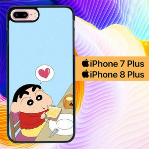 Sinchan Breakfast L0426 hoesjes iPhone 7 Plus , iPhone 8 Plus