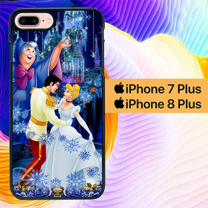 cinderella and prince L0429a hoesjes iPhone 7 Plus , iPhone 8 Plus