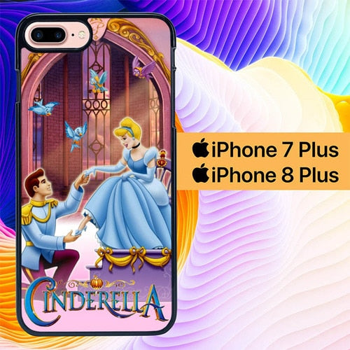 cinderella and prince L0434a hoesjes iPhone 7 Plus , iPhone 8 Plus